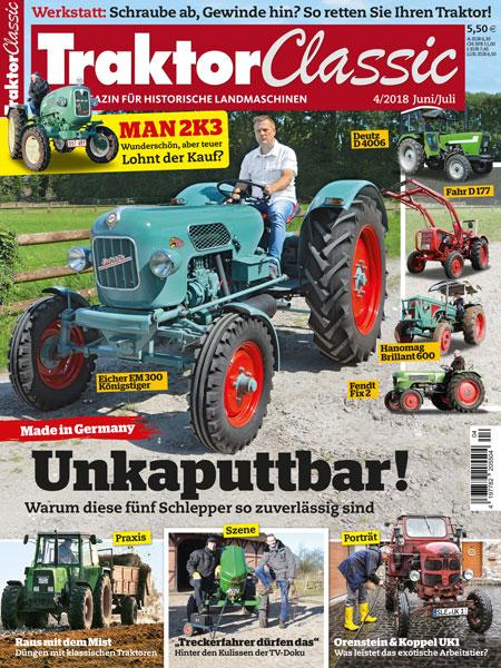 Inhaltsverzeichnis Ausgabe 04/18 | TRAKTOR CLASSIC Magazin