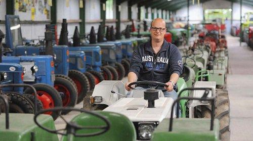 Mit acht Jahren fuhr Norbert Stapper erstmals mit einem Traktor allein zum Feld.